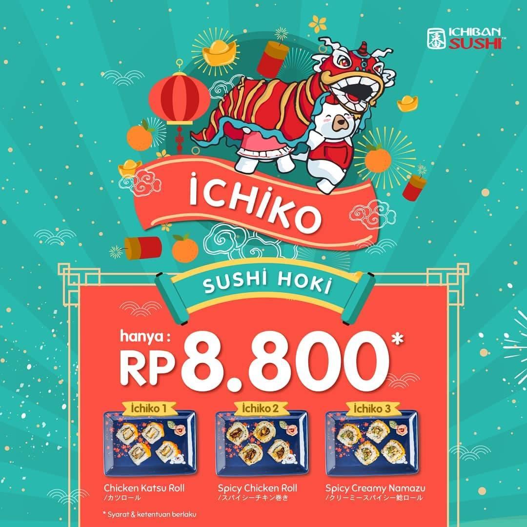 Ichiban Sushi Promo Ichiko Dapatkan Sushi Hoki Dengan Harga Rp.8.800