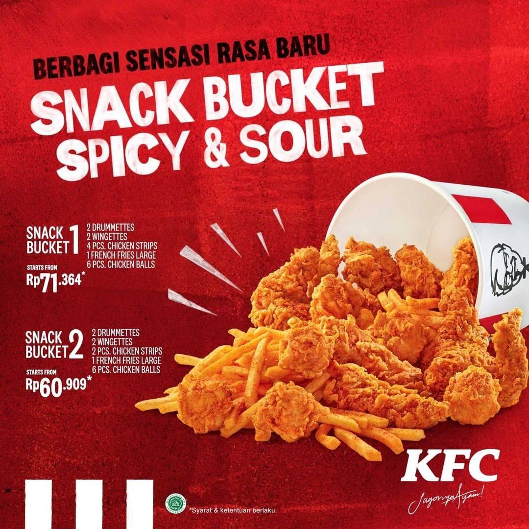 KFC Menu Baru Snack Bucket Spicy And Sour Dengan Harga Dimulai Dari  Rp.60.909