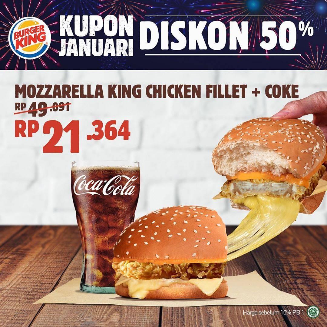 Burger King Promo Bulan Januari Dapatkan Diskon 50%