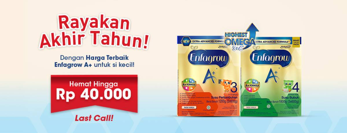 Blibli Promo Produk Susu Enfagrow Dan Sustagen, Hemat Hingga Rp.40.000
