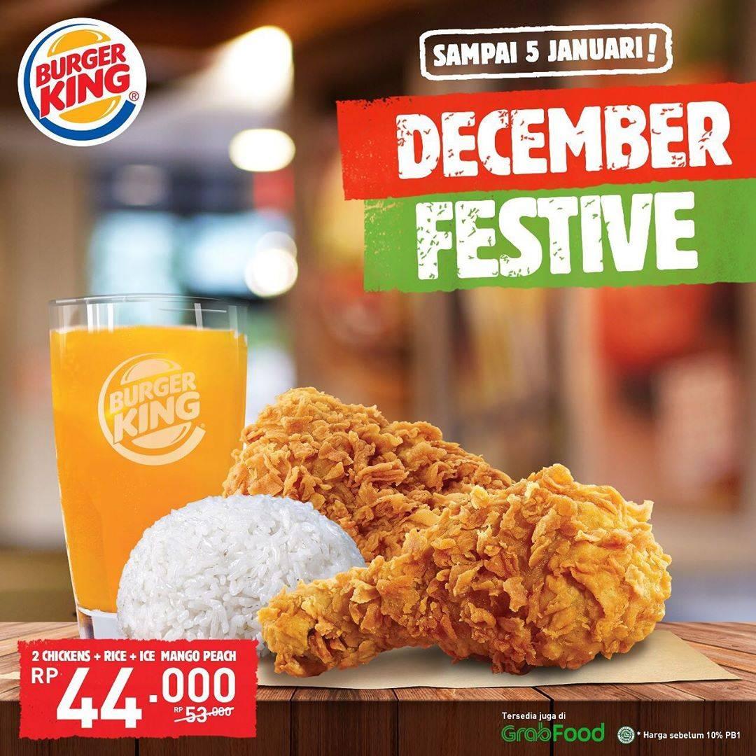 Burger King Promo Desember Festive, Dapatkan Harga Cuma Rp.44.000