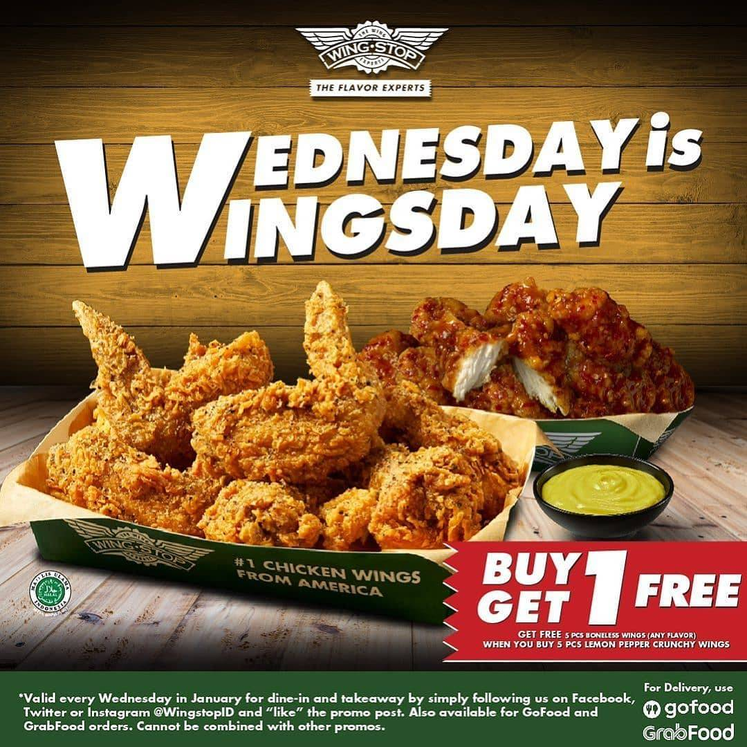 Wingstop Promo Wednesday Is Wingsday, Beli 5 Gratis 5