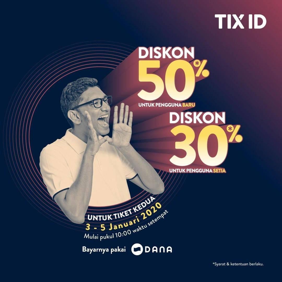 TIX ID Promo Nonton Hemat Awal Tahun, Diskon Hingga 50%