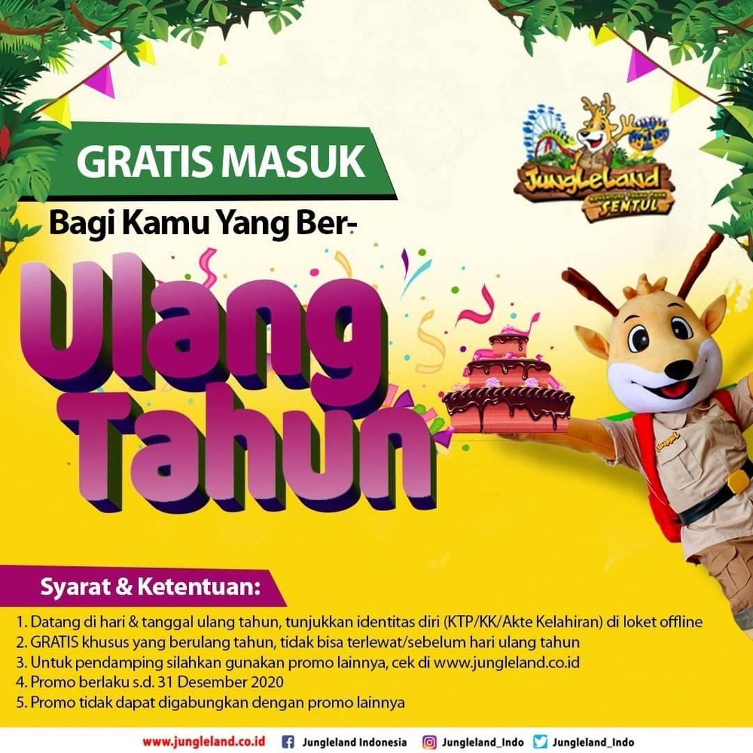 The Jungle Bogor Promo Spesial Ulang Tahun Dapatkan Gratis Tiket Masuk