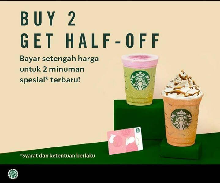 Starbucks Diskon 50% Minuman Terbaru Khusus Starbucks Reward Member