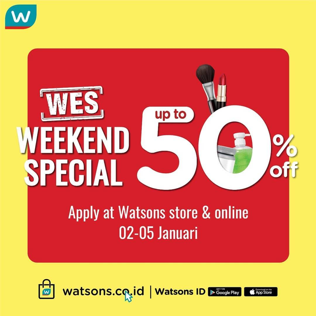 Watsons Weekend Special  Discount Up To 50% Off