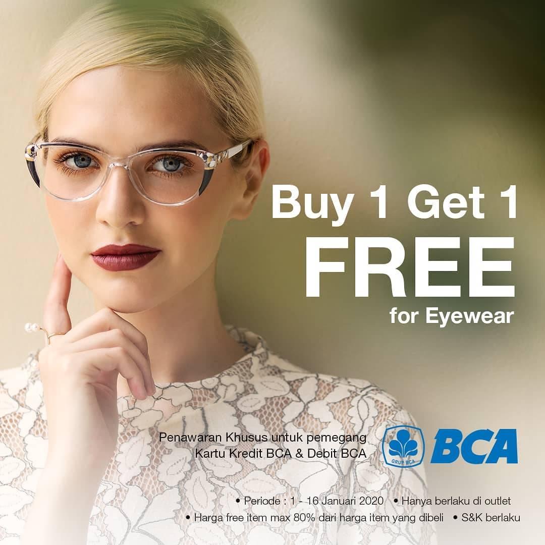Optik Melawai Promo Beli 1 Gratis 1 Untuk Pembelian Eyewear Dengan Kartu BCA