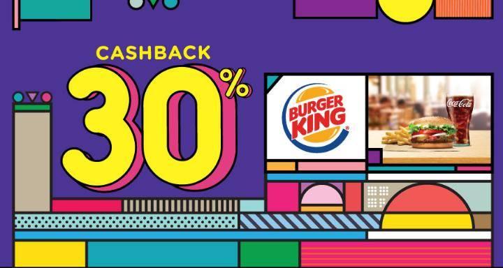 Burger King Cashback 30% Dengan OVO