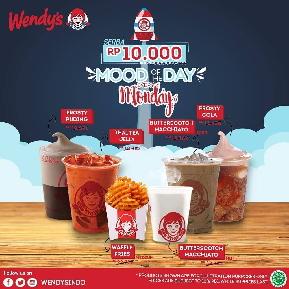 Wendys Promo Mood Of The Day Every Monday, Nikmati Menu Pilihan Serba Rp.10.000
