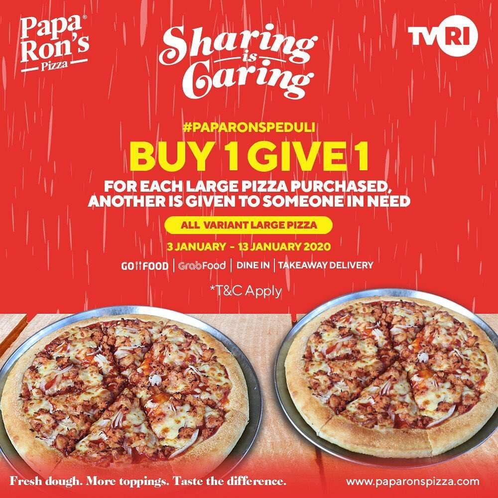 Diskon Papa Ron's Promo Sharing Is Caring, Buy 1 Give 1
