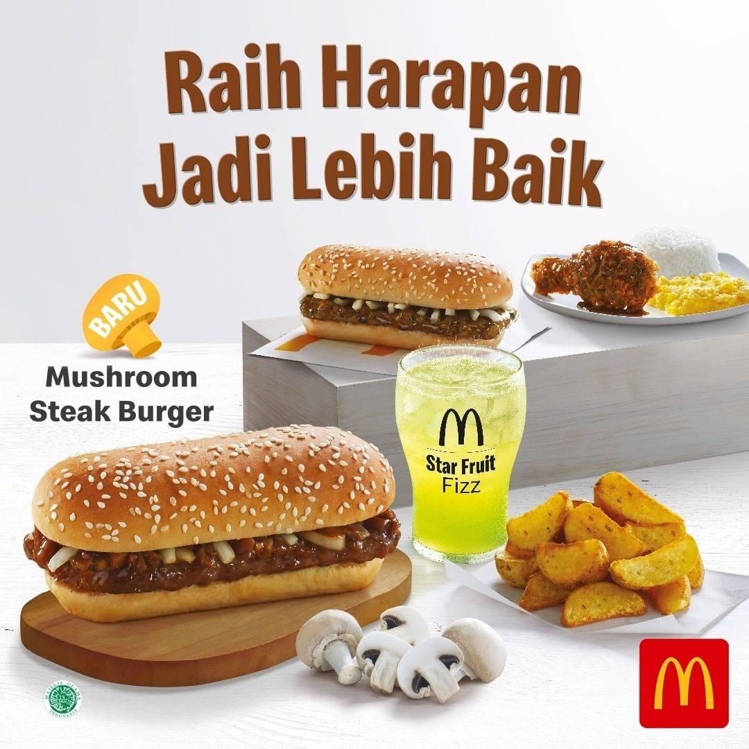McDonalds Promo Mushroom Steak Burger Harga Mulai Rp. 38.500