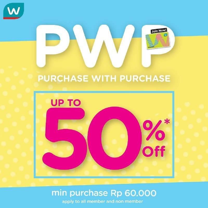 Watsons Promo Purchase With Purchese, Dapatkan Diskon Hingga 50%