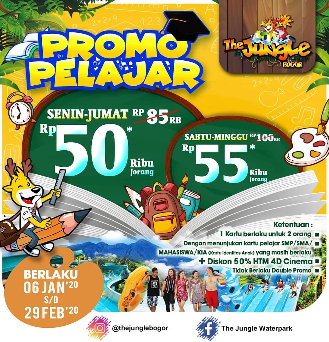 The Jungle Promo Pelajar Dan Mahasiswa, Harga Mulai Dari Rp. 50.000 Per Orang
