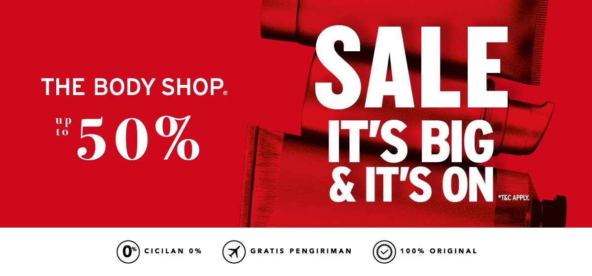 Blibli Diskon 50% Produk The Body Shop