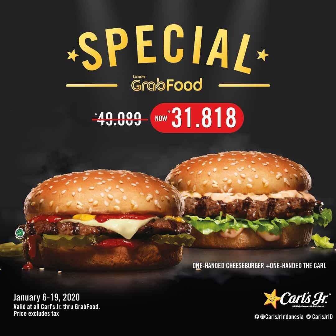Carls Jr Promo Spesial Grabfood Dengan Harga Mulai Rp. 31 Ribuan