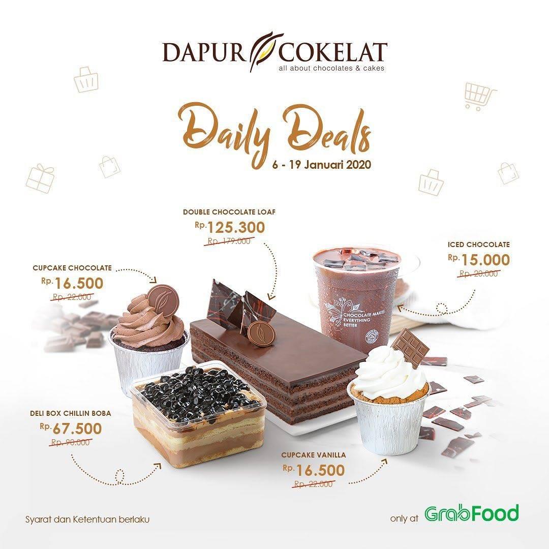 Dapur Cokelat Promo Grabfood Dapatkan Harga Spesial Mulai Rp.15.000