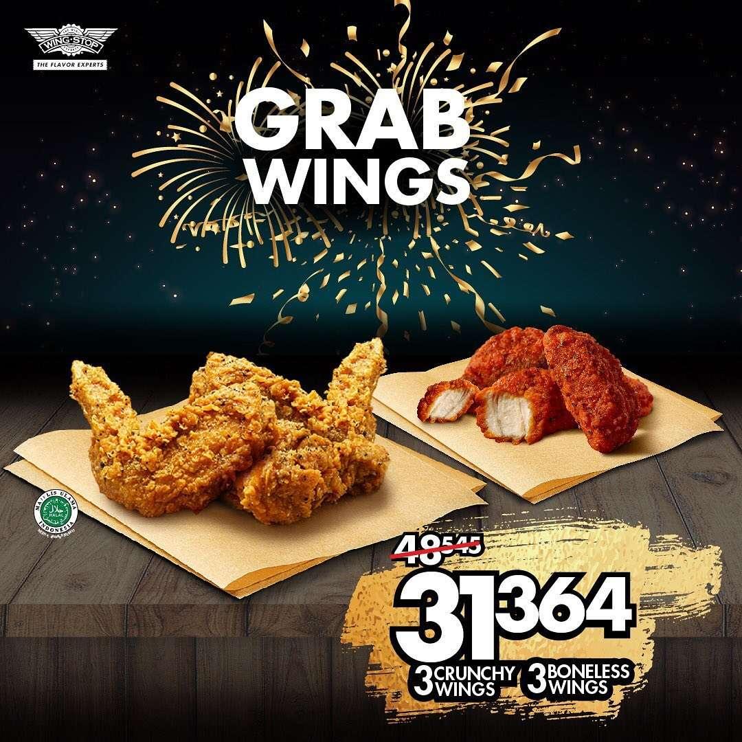 Wingstop Promo Grabfood, Harga Mulai Rp. 31 Ribuan