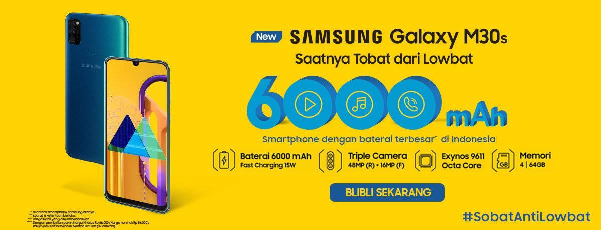 Blibli Promo Samsung Galaxy M30s Diskon 9% Off + Diskon 5% Off