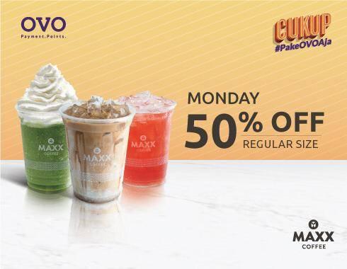 Maxx Coffee Discount 50% Pembayaran Dengan OVO
