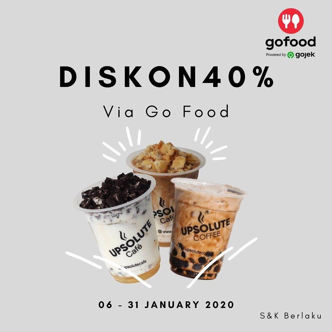 Upsolute Coffee Diskon 40% Dengan Menggunakan GoFood
