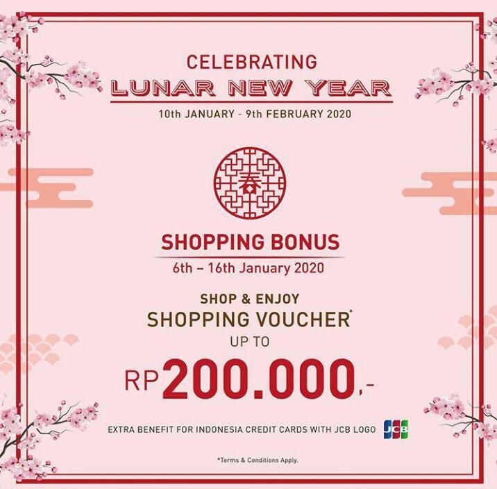 Seibu Promo Tahun Baru Lunar, Dapatkan Bonus Voucher Hingga Rp. 200.000