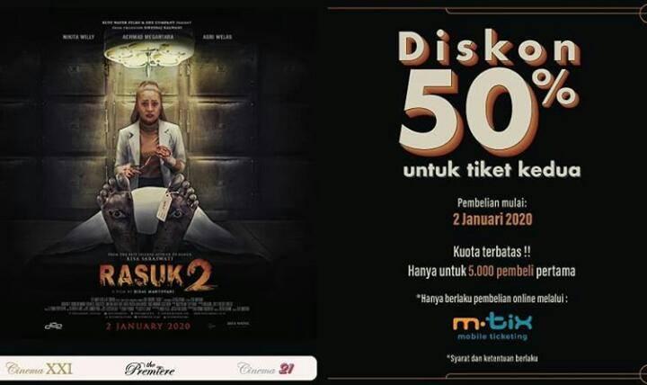 Cinema XXI Promo Spesial Nomat Film Pilihan, Diskon 50% Dengan M-Tix