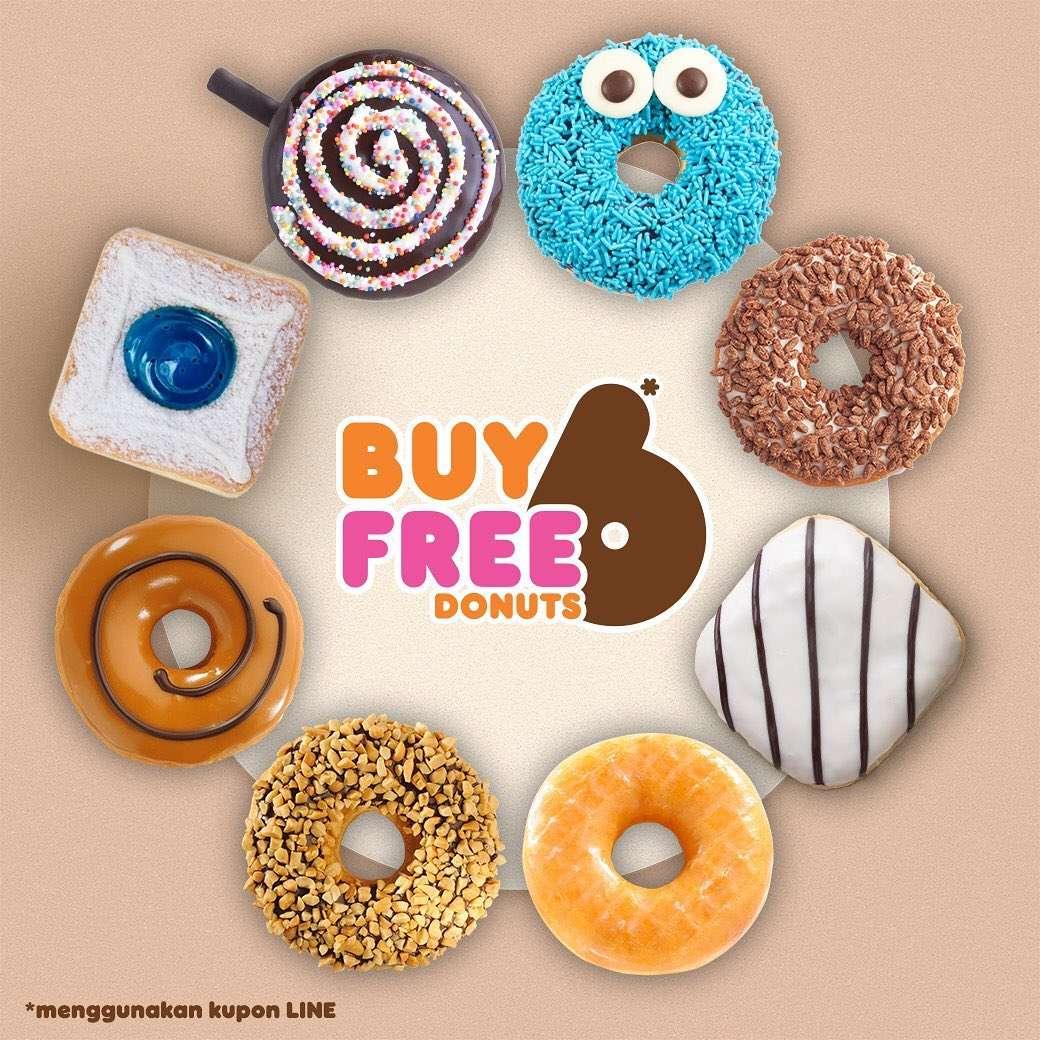 Dunkin Donuts Promo Awal Tahun, Beli 6 Gratis 6