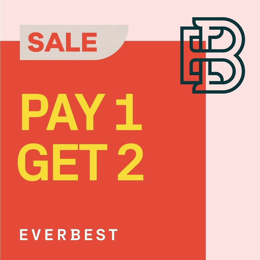 Everbest Promo Big Sale, Pay 1 Get 2