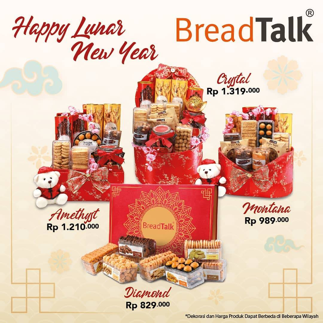 Bread Talk Promo Lunar New Year, Dapatkan Hampers Dengan Harga Mulai Dari Rp. 829.000
