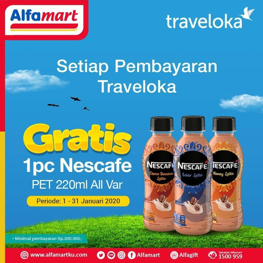Alfamart Promo Gratis 1 Pc Nescafe Pet 220ml Setiap Pembayaran Traveloka