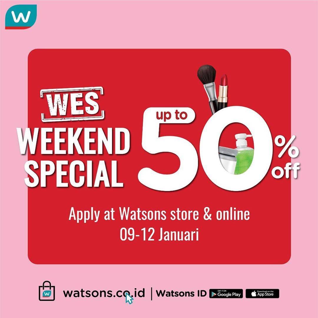 Watsons Promo Weekend Special Dapatkan Diskon Hingga 50%