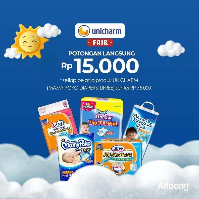 Alfacart Promo Unicharm Fair, Dapatkan Potongan Harga Hingga Rp. 15.000 Khusus Produk Unicharm