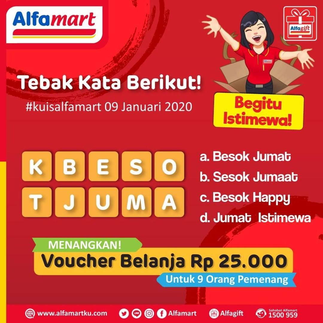 Alfamart Promo Kuis Alfamart, Dapatkan Gratis E-Voucher Belanja Seharga Rp.25.000