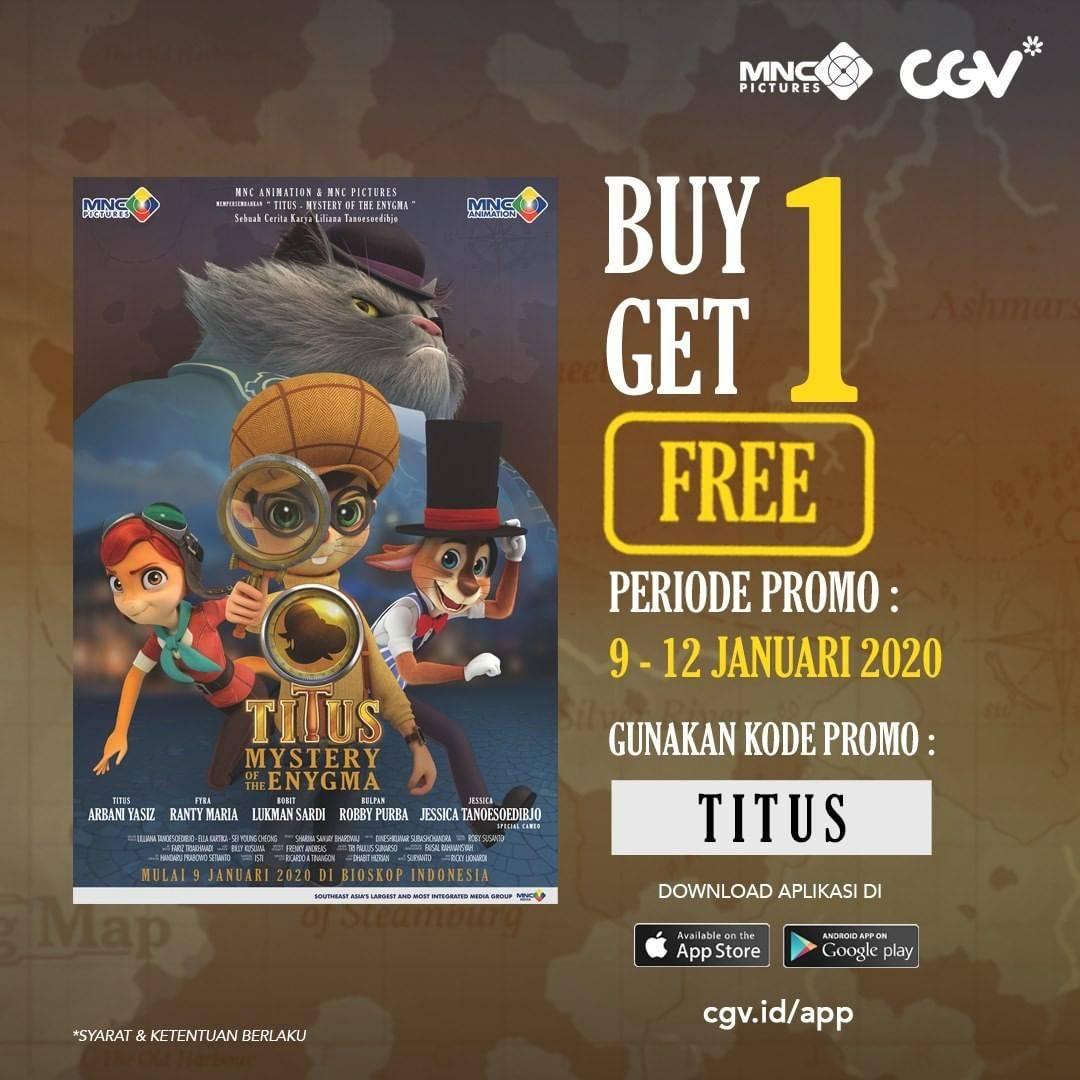CGV Beli 1 Gratis 1 Tiket Titus: Mystery Of Enygma