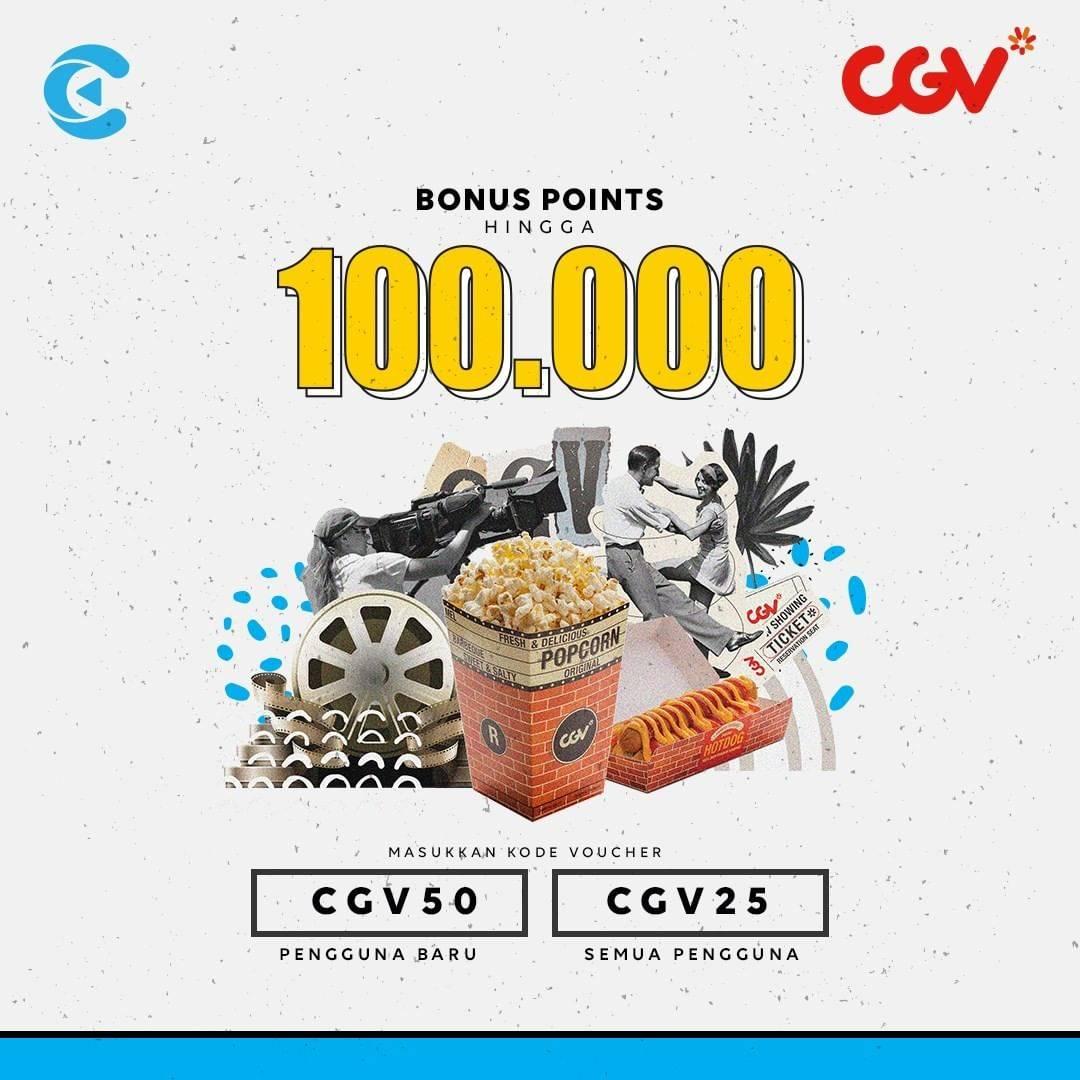 CGV Promo Nonton Hemat Dengan Cashbac Bisa Dapet 100.000 Point