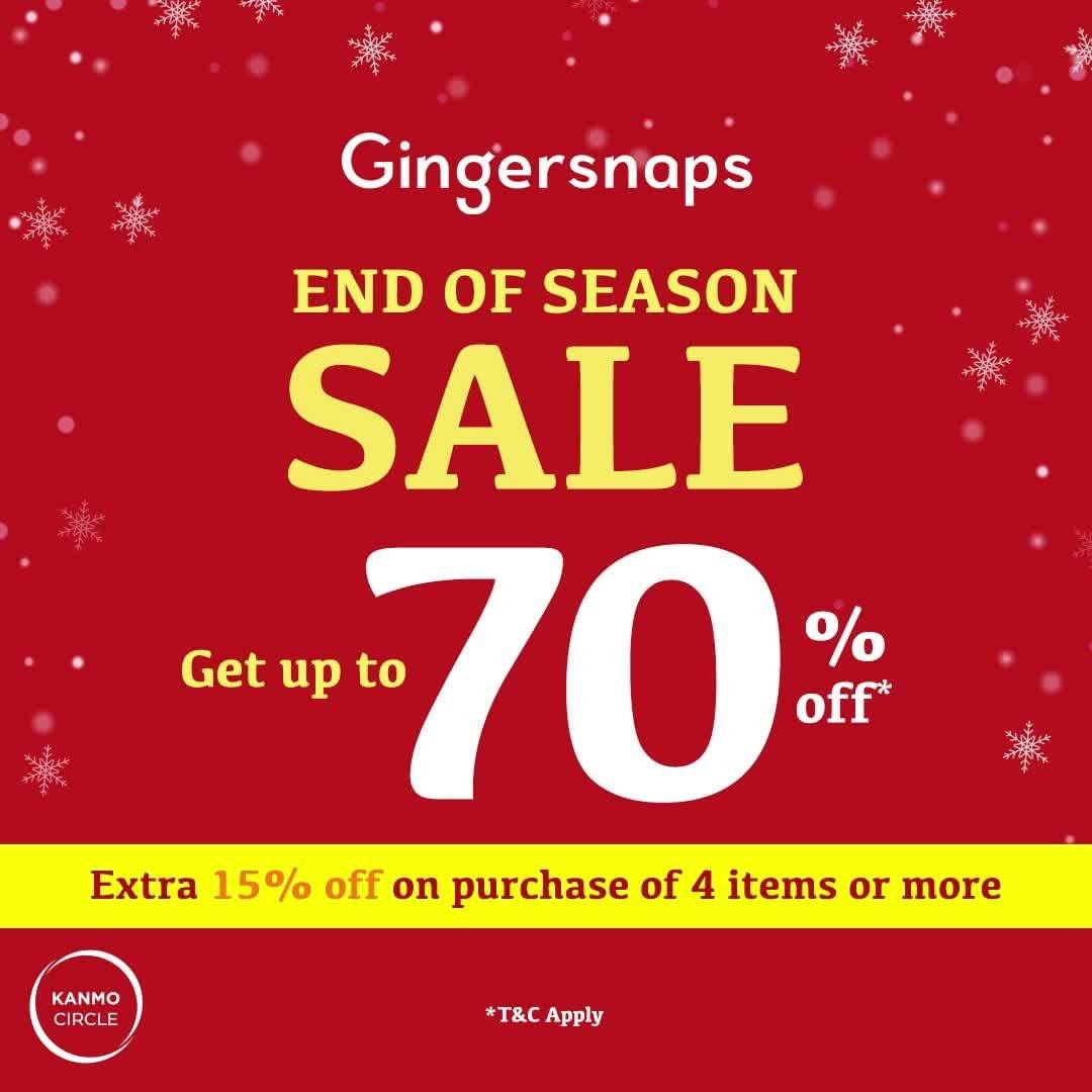 Gingersnaps Promo End Of Season Sale Get Up To 70% Off