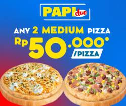 Domino's Pizza Promo Paket Pizza Duo, Beli 2 Medium Pizza Cuma Rp. 100.000