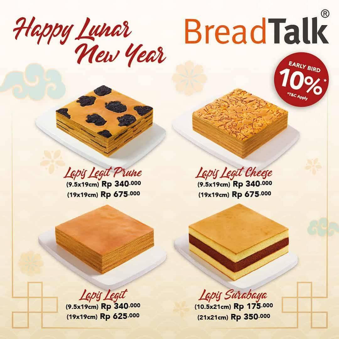 Bread Talk Promo Hampers, Diskon 10% Untuk Kue Lapis Legit.