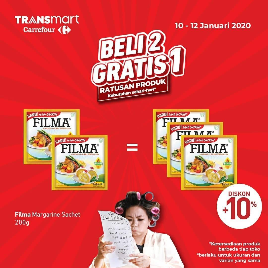 Transmart Promo Beli 2 Gratis 1 Untuk Produk Pilihan