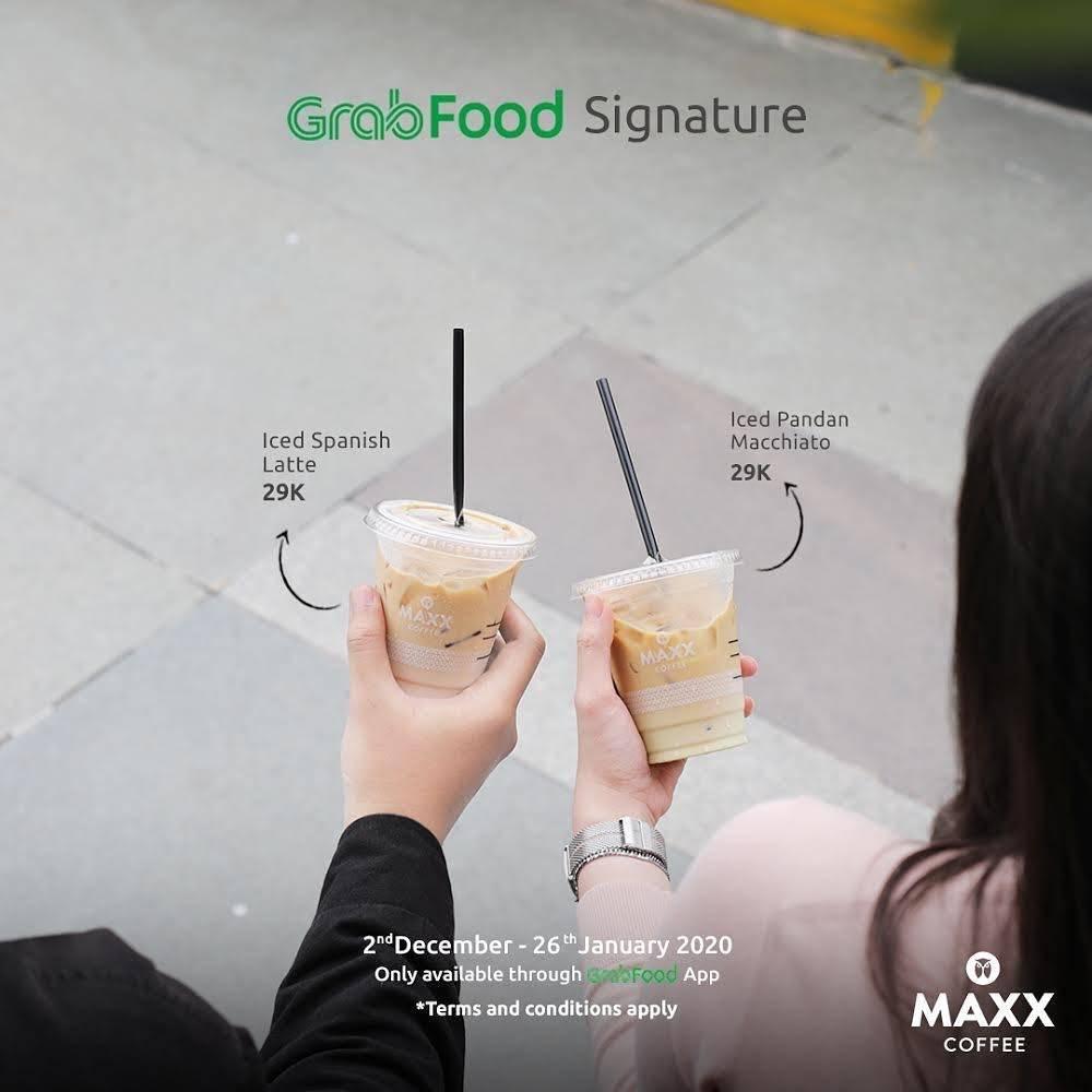 Diskon Maxx Coffee Promo Grab Signature, Dapatkan Menu Pilihan Seharga Rp. 29.000