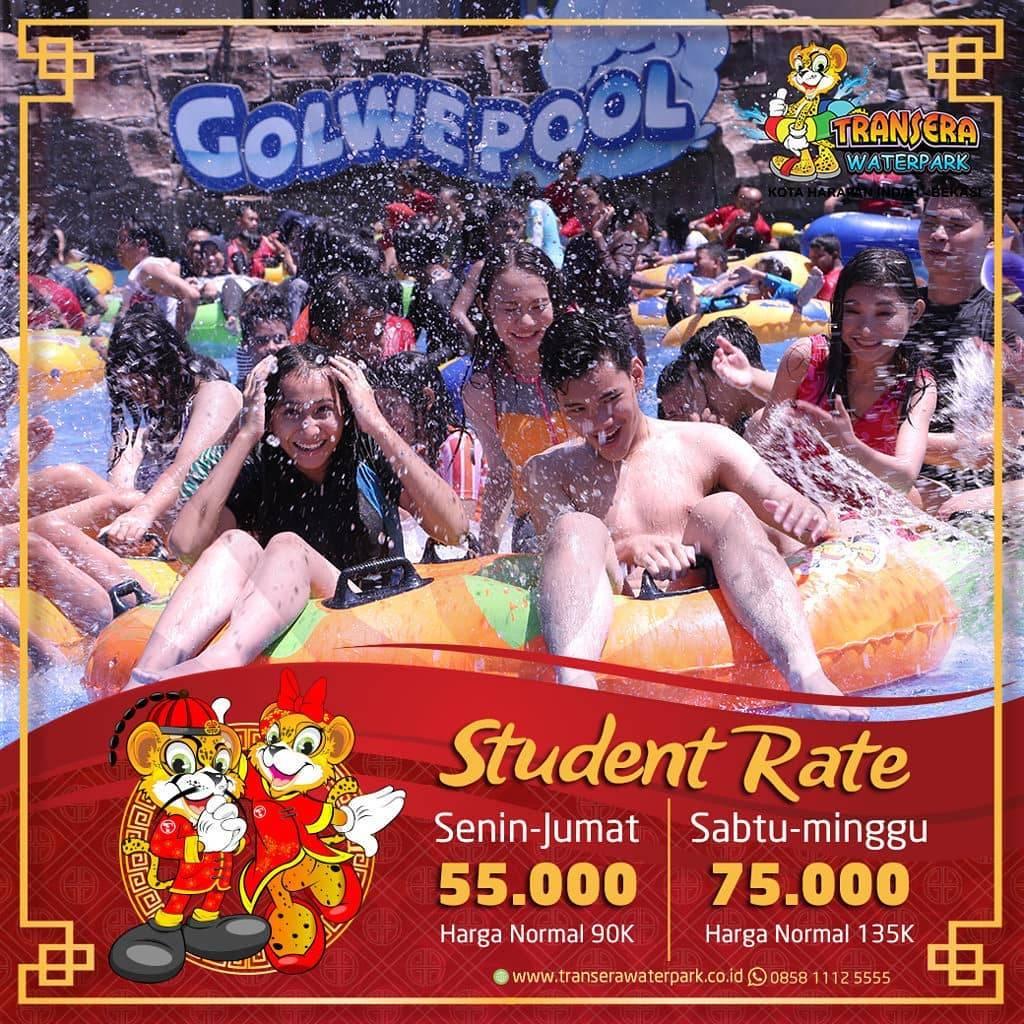 Transera Waterpark Promo Pelajar, Dapatkan Harga Spesial Mulai Dari Rp. 55.000