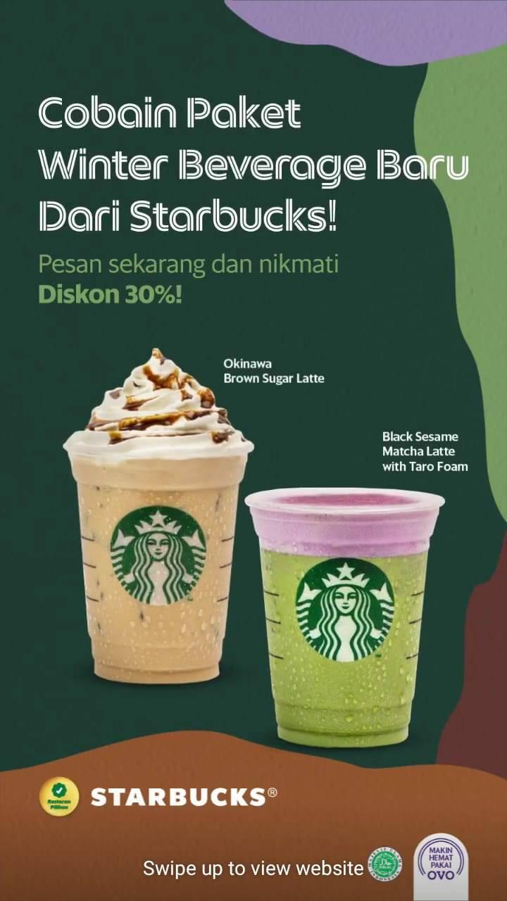Starbucks Promo Spesial Grabfood Dengan Harga Mulai Dari Rp. 75.000 Untuk Minuman Pilihan