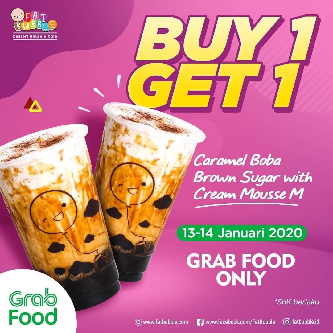 Fat Bubble Promo Buy 1 Get 1 Minuman Pilihan Menggunakan Grab Food