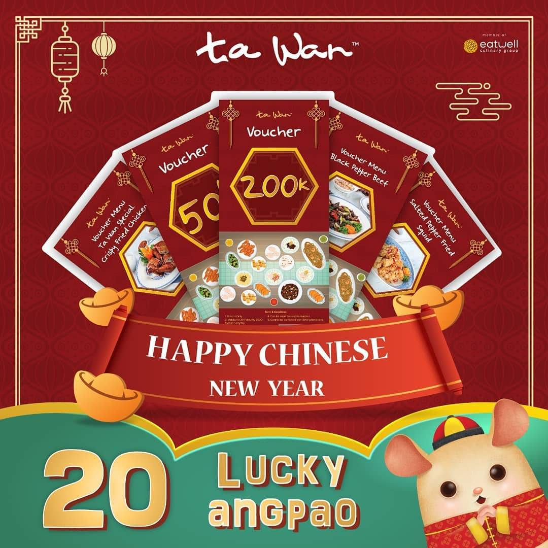 Ta Wan Restaurant Promo Chinese New Year Dapatkan 20 Lucky Angpao