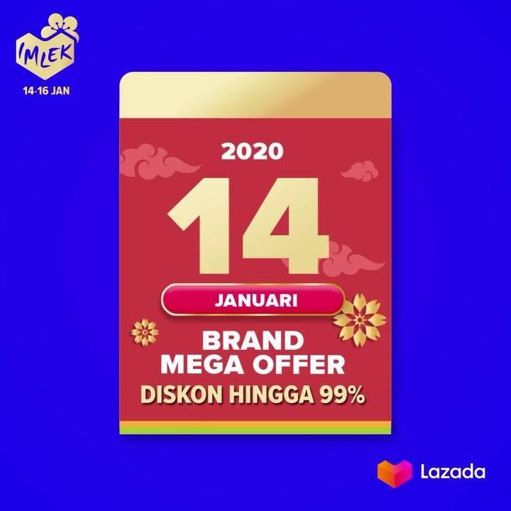 Lazada Promo Brand Mega Offer, Dapatkan Diskon Hingga 99%