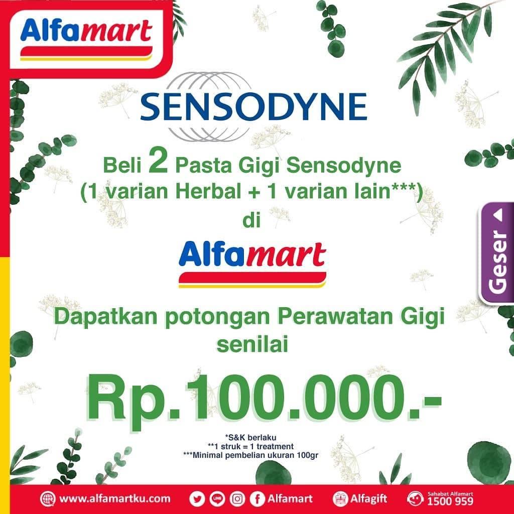 Diskon Alfamart Promo Beli 2 Produk Sensodyne Dapatkan Potongan Perawatan Gigi Senilai Rp. 100.000