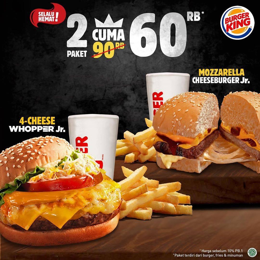 Burger King Promo Beli 2 Paket Jr Meal Burger Cuma Rp. 60.000