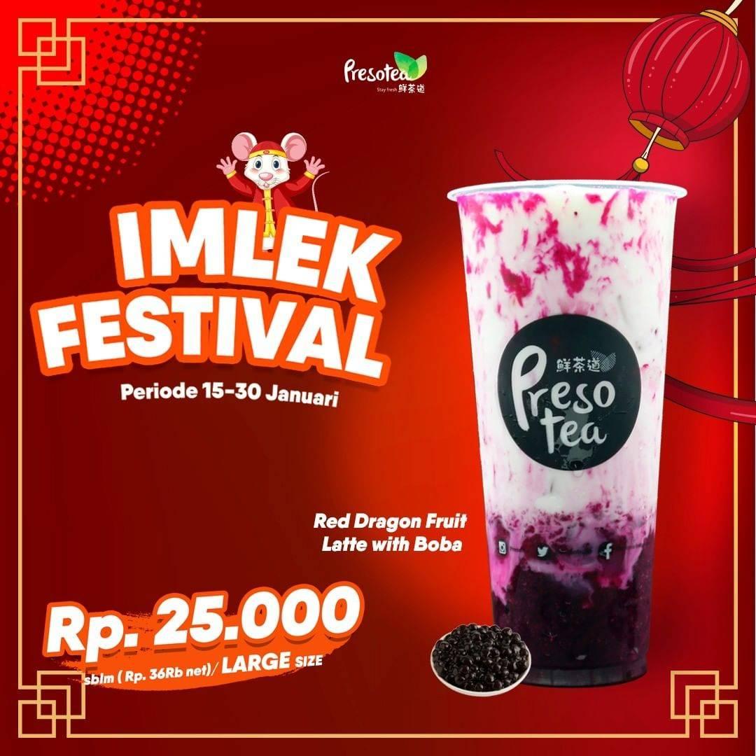 Diskon Presotea Promo Imlek Festival, Harga Spesial Minuman Pilihan Mulai Rp. 25.000
