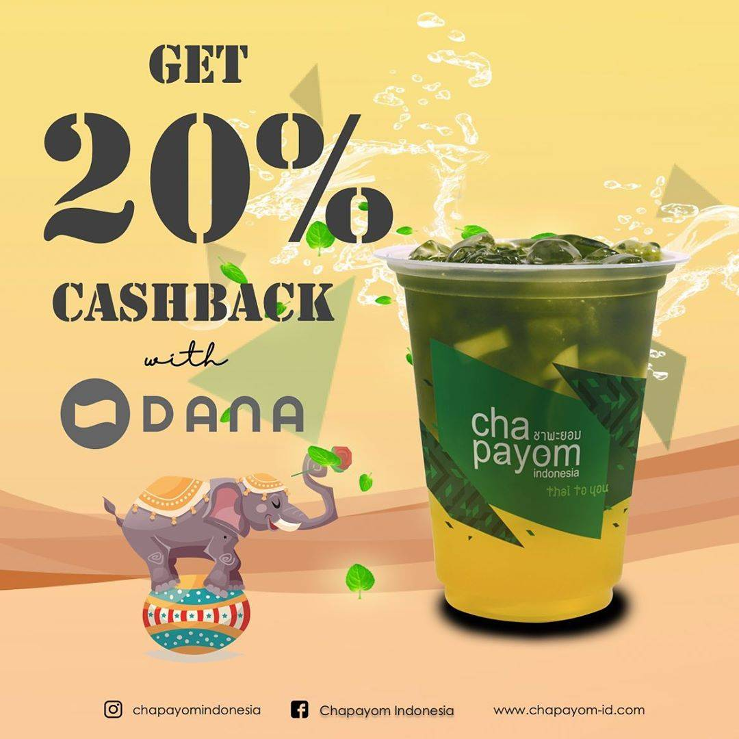 Cha Payom Promo Cashback 20% Pembayaran Melalui Dana