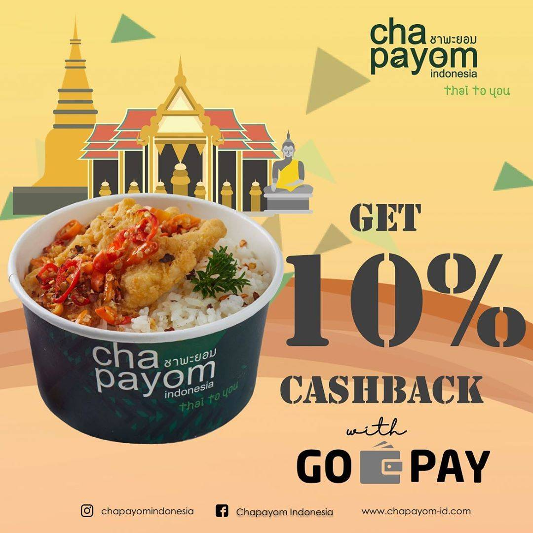 Cha Payom Promo Cashback 10% Pembayaran Melalui Gopay